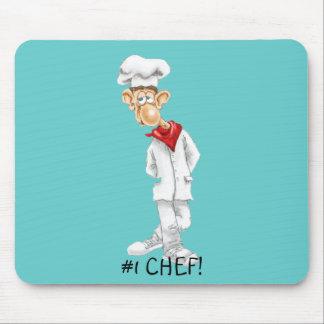 Cartoon des Koch mit lustigen Sprüchen Mauspads