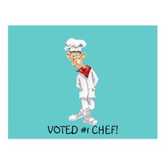 Cartoon des Koch mit lustigen Sprüchen Postkarte