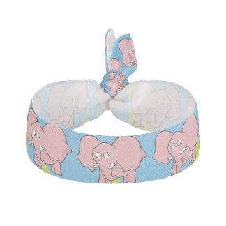 Cartoon des rosa Elefanten Haarschleife
