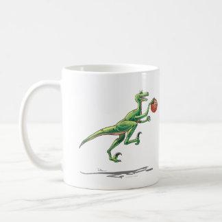 Cartoon-Dinosaurier Tassevelociraptor-w/Basketball Kaffeetasse