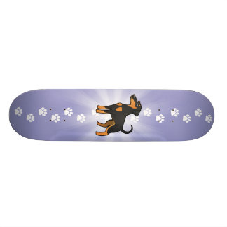 Cartoon-DobermannPinscher (schlaffe Ohren) Individuelle Decks