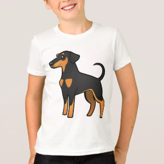 Cartoon-DobermannPinscher (schlaffe Ohren) T-Shirt