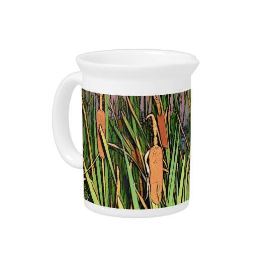 Cartoon-Effektcattails-Krug Getränke Pitcher