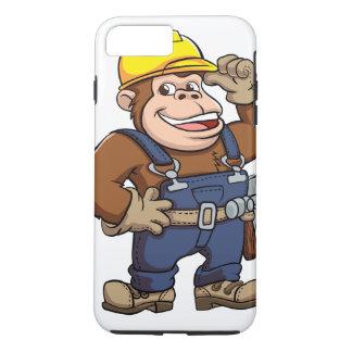 Cartoon eines Gorilla-Heimwerkers iPhone 8 Plus/7 Plus Hülle
