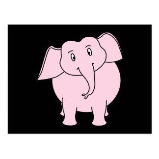 Cartoon eines rosa Elefanten Postkarte