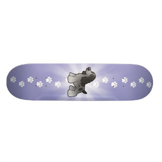 Cartoon-englischer Cockerspaniel Skateboard Bretter