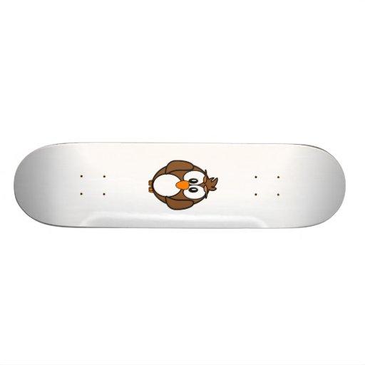 Cartoon-Eule Personalisiertes Skateboard