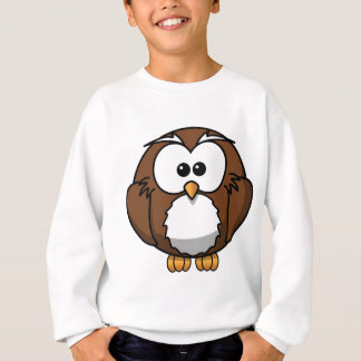 Cartoon-Eule Sweatshirt