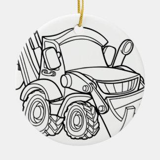 Cartoon-Fahrzeug-Planierraupen-Gräber Keramik Ornament
