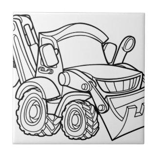 Cartoon-Fahrzeug-Planierraupen-Gräber Keramikfliese