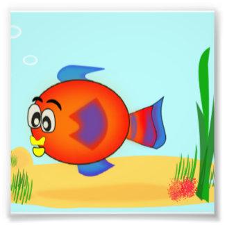 Cartoon-Fische Fotodruck