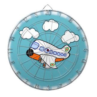 Cartoon-Flugzeug Dartscheibe