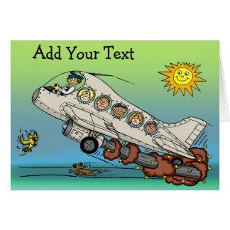 Cartoon-Flugzeug Karte