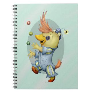 CARTOON Foto-Notizbuch des BABY-RIUS (80 Seiten Spiral Notizblock