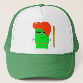 Cartoon Frankensteins Monsterschock-Orangenhaar Truckerkappe