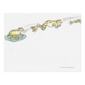 Cartoon-Frosch Postkarten