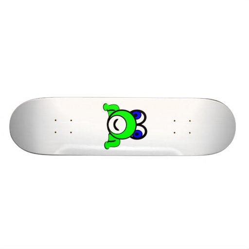 Cartoon-Frosch Skateboard Deck