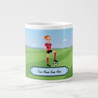 Cartoon-Fußball-Spieler-Tasse für Mädchen Jumbo-Tasse