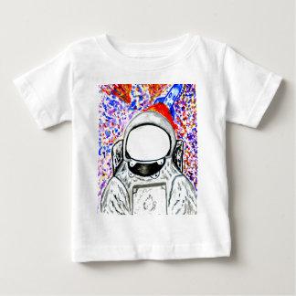 Cartoon gemalter Astronaut Baby T-shirt