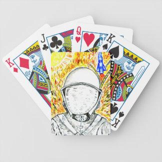 Cartoon gemaltes Astronaut2 Bicycle Spielkarten