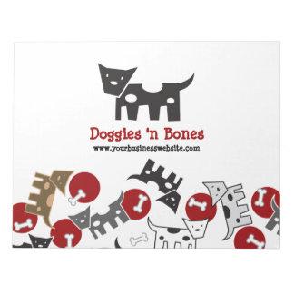 Cartoon-gepunkteter Hündchen-u. Knochen-niedlicher Notizblock