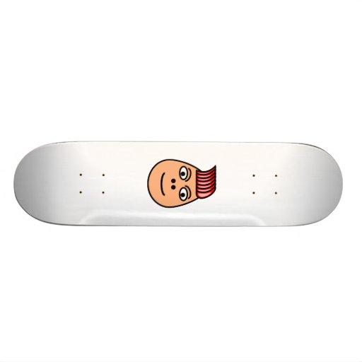Cartoon-Gesicht Bedrucktes Skateboard