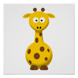 Cartoon-Giraffe Poster