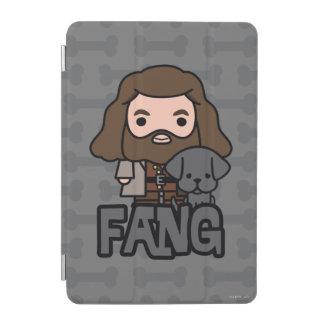 Cartoon Hagrid und Reißzahn-Charakter-Kunst iPad Mini Cover