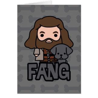 Cartoon Hagrid und Reißzahn-Charakter-Kunst Karte