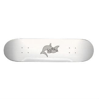 Cartoon-Haifisch Bedrucktes Skateboard