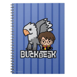 Cartoon Harry Potter und Buckbeak Spiral Notizblock