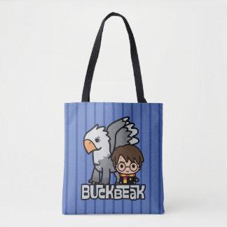 Cartoon Harry Potter und Buckbeak Tasche