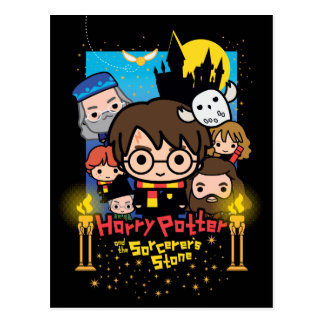 Cartoon Harry Potter und der Stein des Zauberers Postkarte
