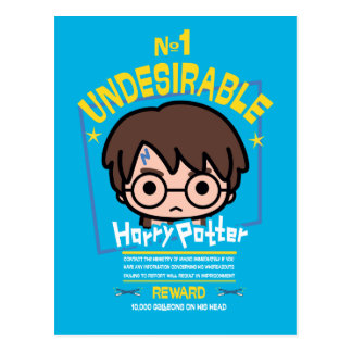 Cartoon Harry Potter wollte Plakat-Grafik Postkarte