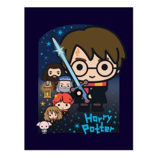 Cartoon-Harry- Potterkammer der Geheimnisse Postkarte