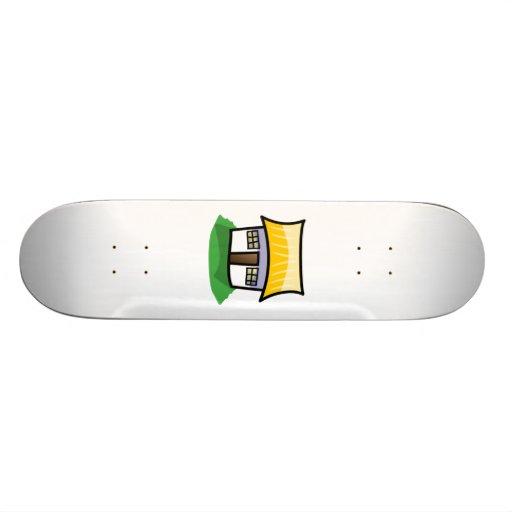 Cartoon-Haus Personalisiertes Skateboarddeck