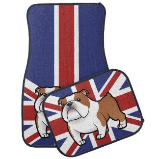 Cartoon-Haustier mit Flagge Automatte
