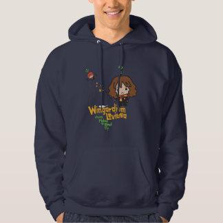 Cartoon Hermione und Bann Ron Wingardium Leviosa Hoodie