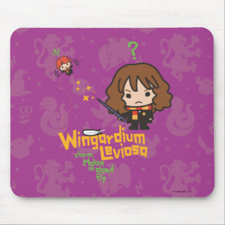 Cartoon Hermione und Bann Ron Wingardium Leviosa Mousepad