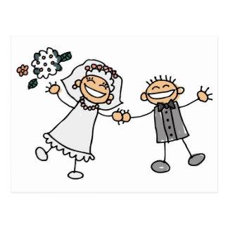 Cartoon-Hochzeit Postkarten