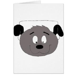 Cartoon-Hund mit Kopfhörern Karte