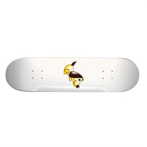 Cartoon-Hund Skateboardbrett