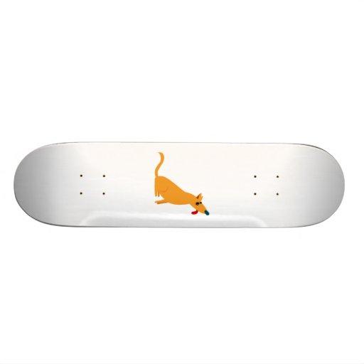 Cartoon-Hund Skateboard Brett
