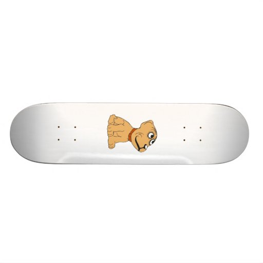 Cartoon-Hund Personalisierte Skateboarddecks