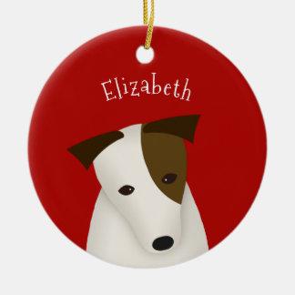 Cartoon-Jack-Russell-Terrier-individueller Name Keramik Ornament