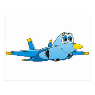 Cartoon-Jet Postkarte