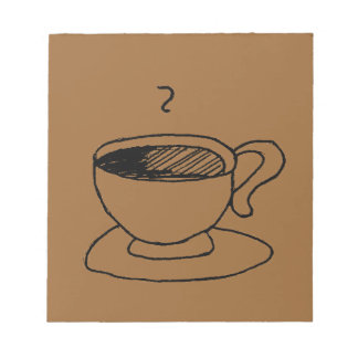 Cartoon-Kaffeetasse-Gang Notizblock