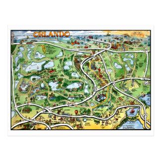 Cartoon-Karten-Postkarte Orlandos Florida Postkarten