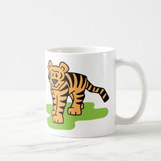 Cartoon-Klipp-Kunst-bengalischer Tiger-große Katze Kaffeetasse