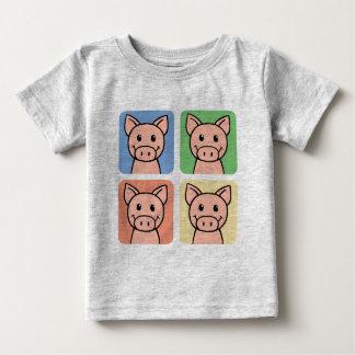 Cartoon-Klipp-Kunst, die Piggie Piggy Schweine Baby T-shirt